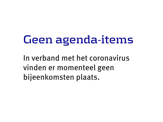 Geen agenda-items